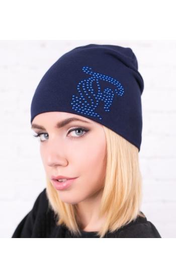 """Женская шапка """"Трикотаж F"""""""