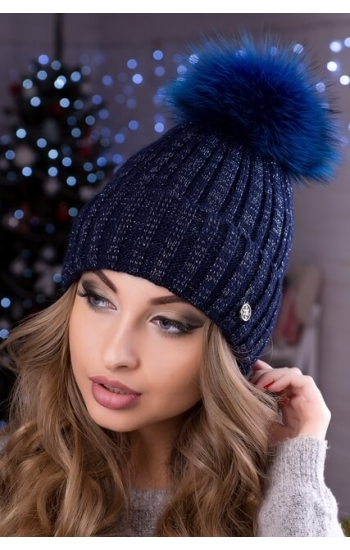 """Женская шапка """"Блеск"""" без бубона"""