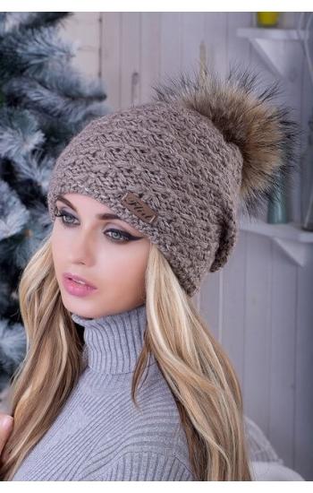 """Женская шапка """"Вероника без бубона"""""""