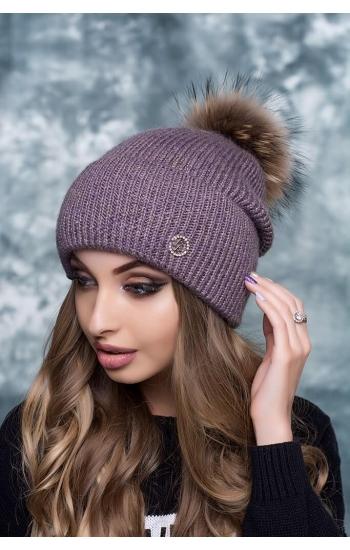 """Женская шапка """"Прима"""" (kid mohair)"""