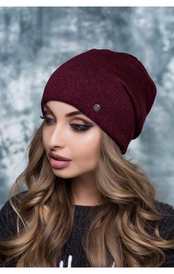 """Женская шапка """"Селена без бубона"""" (lurex)"""