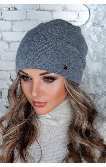 """Женская шапка """"Дина"""" (angora)"""