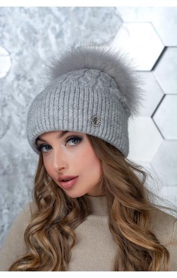 "Женская шапка ""Вита"" (kid mohair)"