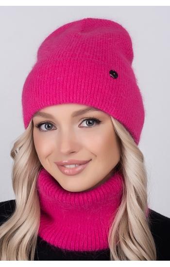 """Женская шапка """"Калипсо"""" (angora)"""