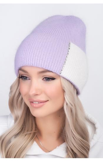 """Женская шапка """"Мэри"""" (angora)"""