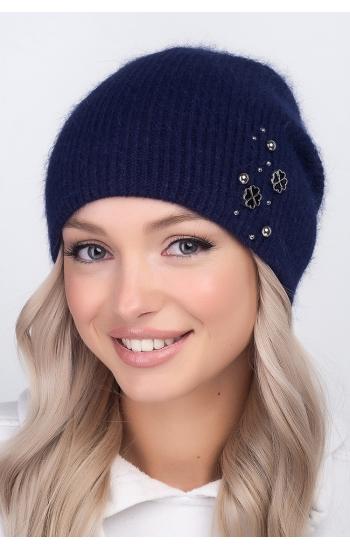 """Женская шапка """"Наоми"""" (angora)"""
