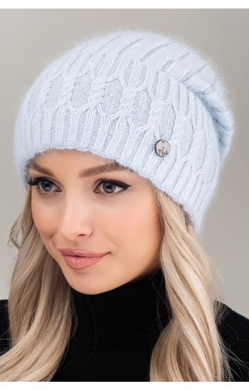 """Женская шапка """"Элен"""" (angora)"""