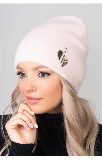 """Женская шапка """"Лав"""" (angora)"""
