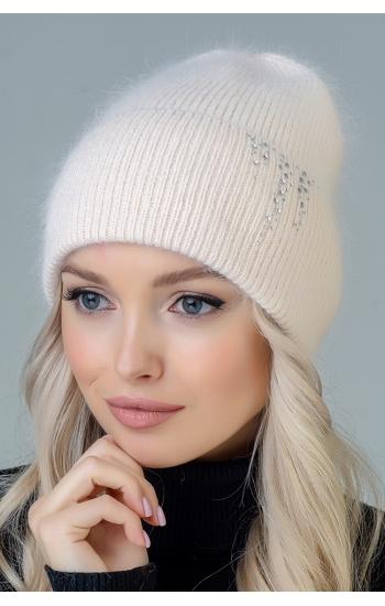 """Женская шапка  """"Майа"""" (angora)"""