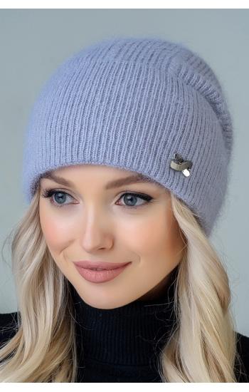 """Женская шапка """"Шелли"""" (angora)"""